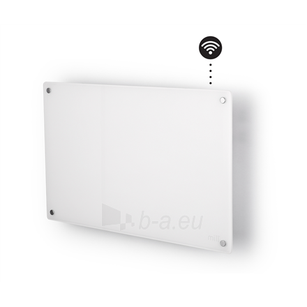 Šildytuvas Mill Glass AV600WIFI WiFi Panel Heater, 600 W, Suitable for rooms up to 11 m², Number of fins Inapplicable, White Paveikslėlis 1 iš 5 310820223214