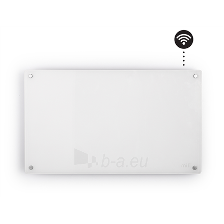 Šildytuvas Mill Glass AV600WIFI WiFi Panel Heater, 600 W, Suitable for rooms up to 11 m², Number of fins Inapplicable, White Paveikslėlis 2 iš 5 310820223214