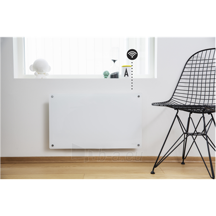 Šildytuvas Mill Glass AV600WIFI WiFi Panel Heater, 600 W, Suitable for rooms up to 11 m², Number of fins Inapplicable, White Paveikslėlis 3 iš 5 310820223214