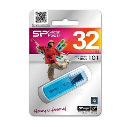 SILICON POWER 32GB, USB 2.0 FLASH DRIVE HELIOS 101, BLUE Paveikslėlis 1 iš 1 250255120860
