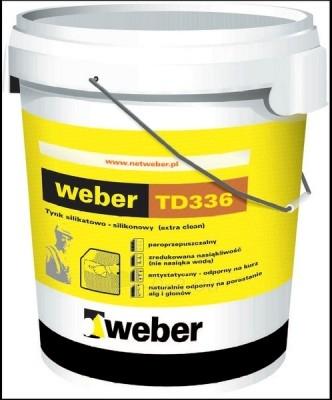 Silicate-silicone plaster Weber TD336 ruggeds K/2 30kg Paveikslėlis 1 iš 1 236760100135