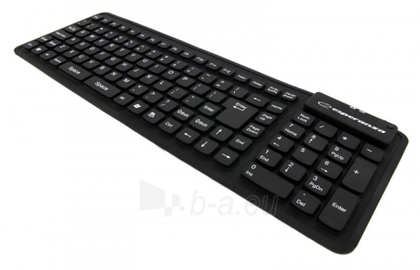 Silikoninė klaviatūra Esperanza EK126K USB/OTG Lanksti Atspari vandeniui / Juoda Paveikslėlis 3 iš 6 250255701102