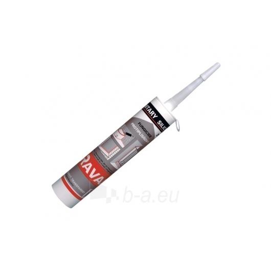Silikoninis glaistas RAVAK Professional baltas, 310 ml Paveikslėlis 1 iš 1 270790100189