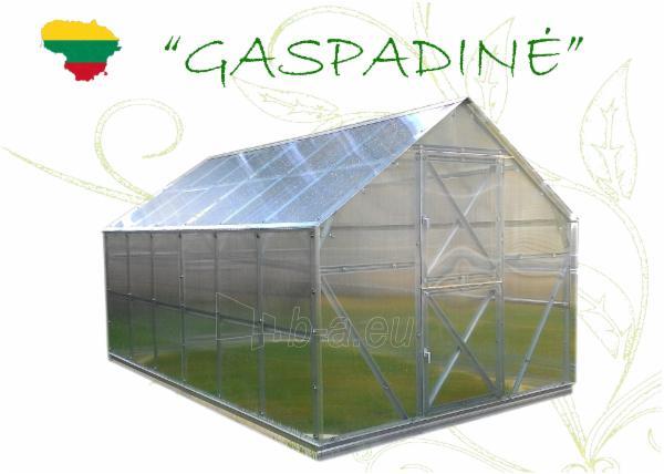Šiltnamis GASPADINĖ (10,56m2) 4000x2640x2420 su 6mm polikarbonato danga Paveikslėlis 3 iš 3 310820038920