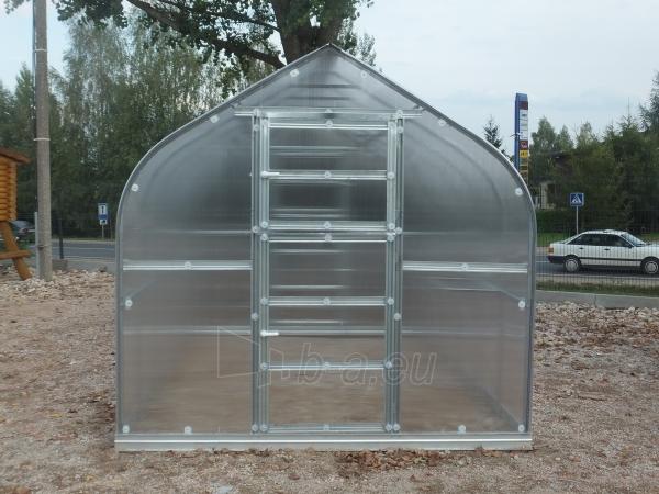 Šiltnamis Standart KLASIKA 25m2 (5 stoglangiai) 2,5x10 su 6 mm.polikarbonato danga Paveikslėlis 4 iš 5 238700000218