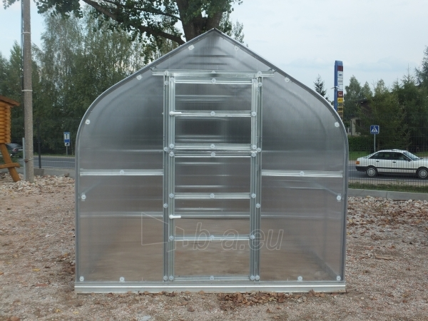 Šiltnamis Standart KLASIKA 25m2 (5 stoglangiai) 2,5x10 su 4 mm.polikarbonato danga Paveikslėlis 4 iš 4 238700000219