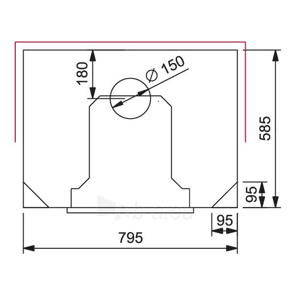 Šilumą akumuliuojantis židinys JUHANA, su apatiniu prijungimu Paveikslėlis 2 iš 2 310820163650