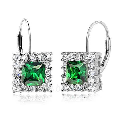 Silvego sidabriniai auskarai Emerald su sintetiniais smaragdais TXRE100107 Paveikslėlis 1 iš 2 310820024423
