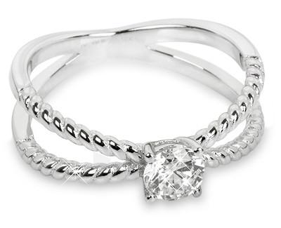 Silver Cat sidabrinis žiedas su cirkoniu SC180 (Dydis: 56 mm) Paveikslėlis 1 iš 1 310820023443