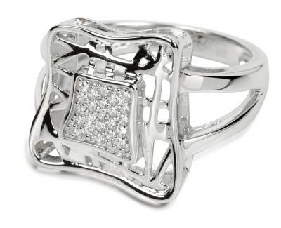 Silver Cat sidabrinis žiedas su kristalu SC016 (Dydis: 58 mm) Paveikslėlis 1 iš 1 310820023394
