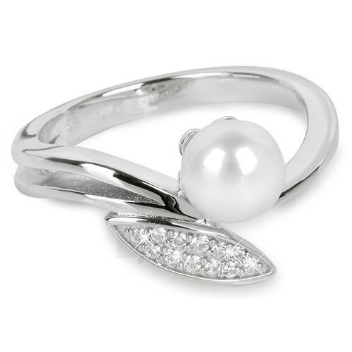 Silver Cat ring su cirkoniu ir perlu SC215 (Dydis: 52 mm) Paveikslėlis 1 iš 1 310820050723