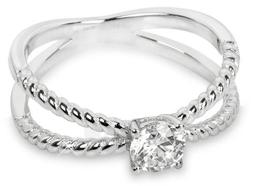 Silver Cat žiedas su cirkoniu SC180 (Dydis: 52 mm) Paveikslėlis 1 iš 1 310820050725