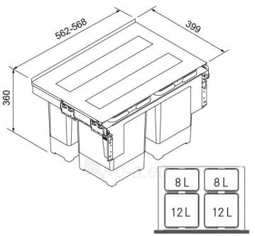 Šiukšliadėžė FRANKE Garbo 60-4 121.0200.676 Paveikslėlis 1 iš 2 271531000039
