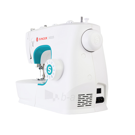 Sewing machines Singer Sewing Machine M3305 Number of stitches 23, Number of buttonholes 1, White Paveikslėlis 2 iš 6 310820223882