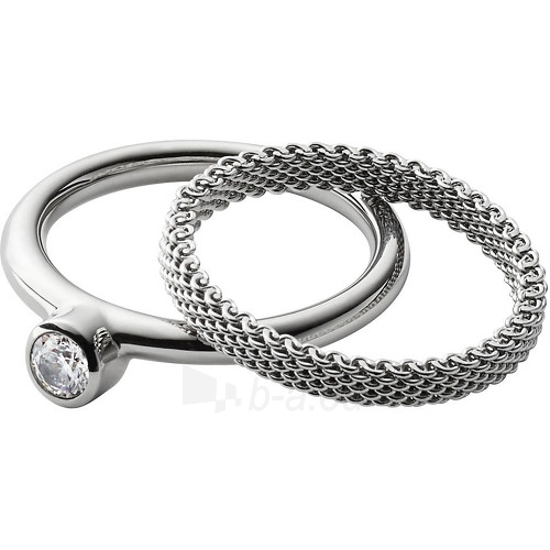 Skagen plieninis žiedas 2 v 1 SKJ0835040 (Dydis: 58 mm) Paveikslėlis 1 iš 2 310820023337