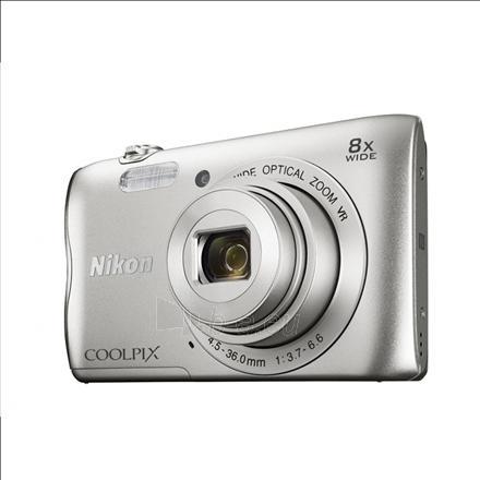 "Skaitmeninis fotoaparatas Nikon Coolpix A300 Silver/20.1Mpixels,NIKKOR 5x,2.7"" LCD,ISO 80-1600,Support SD/SDHC/SDXC,Li-ion batt. Paveikslėlis 1 iš 2 310820029600"