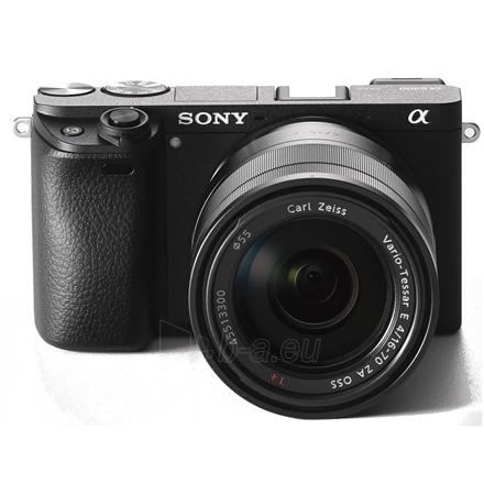"Skaitmeninis veidrodinis fotoaparatas Sony A6300 + 16-70mm Kit System, 24.2 MP, Image stabilizer, ISO 51200, Display diagonal 2.95 "", Video recording, Wi-Fi, 4D FOCUS, Magnification 1.07 x, CMOS, Black Paveikslėlis 1 iš 5 310820100307"