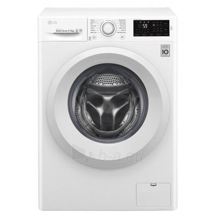 Washing machine LG Washing machine F2J5WN3W Front loading, Washing capacity 6.5 kg, 1200 RPM, Direct drive, A+++, Depth 44 cm, Width 60 cm, White, Motor type Direct Drive Paveikslėlis 1 iš 1 310820081211