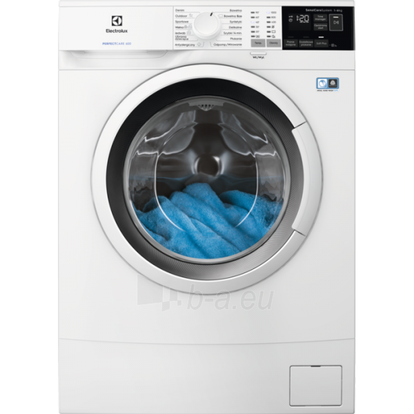 Skalbimo mašina Washing machine Electrolux EW6S406WP | 6kg 1000 obr. A+++ Paveikslėlis 1 iš 4 310820191706