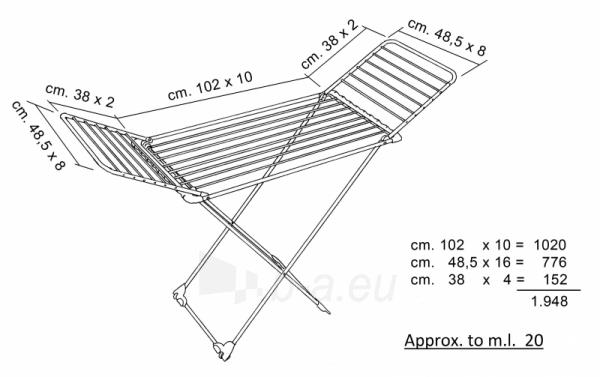 Skalbinių džiovyklė Vileda Aluminium 100 Paveikslėlis 4 iš 4 310820145779
