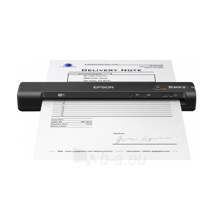 Skeneris Epson Wireless Mobile Scanner WorkForce ES-60W Colour, Document Paveikslėlis 1 iš 4 310820211081