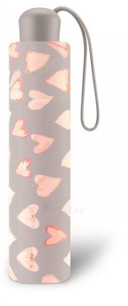 Skėtis Esprit Ladies Folding Umbrella with Super Mini Water Color Heart s Cream Pink Paveikslėlis 3 iš 4 310820172044