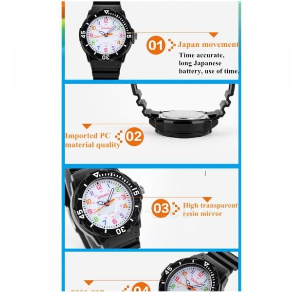 SKMEI AD1043C Kids Black Vaikiškas laikrodis Paveikslėlis 3 iš 4 310820105384