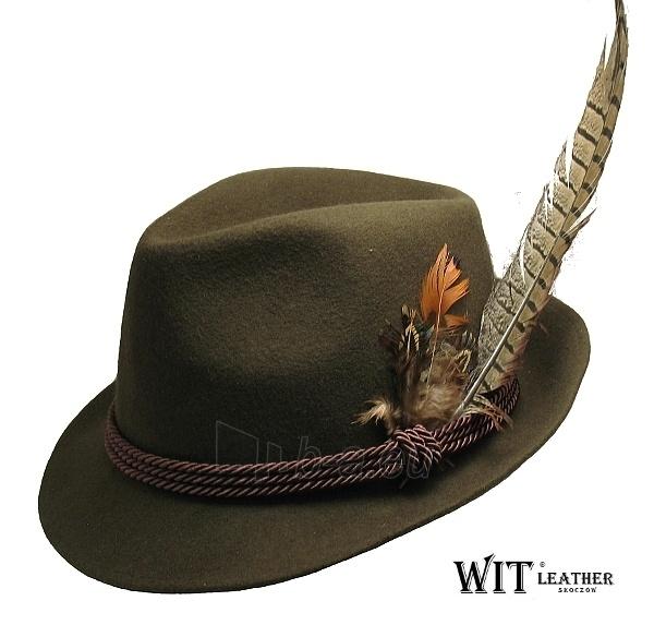 Skrybėlė medžioklio L 008/09 su plunksna Paveikslėlis 1 iš 1 251510700123
