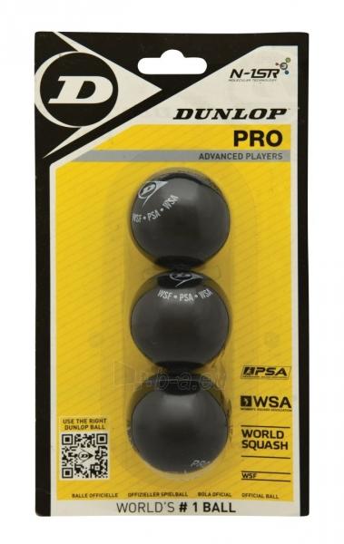 Skvošo kamuoliukai DUNLOP PRO 2 yellow dots Paveikslėlis 1 iš 1 310820179284