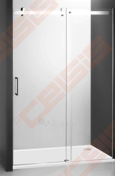 Slankiojančios dušo durys ROLTECHNIK AMBIENT LINE AMD2/1300 skirtos montuoti į nišą su sidabro spalvos profiliu ir skaidriu stiklu Paveikslėlis 2 iš 3 270770000369