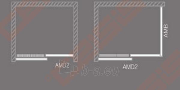 Slankiojančios dušo durys ROLTECHNIK AMBIENT LINE AMD2/1300 skirtos montuoti į nišą su sidabro spalvos profiliu ir skaidriu stiklu Paveikslėlis 3 iš 3 270770000369