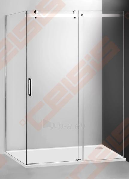 Slankiojančios dušo durys ROLTECHNIK AMBIENT LINE AMD2/1400 skirtos montuoti į nišą su sidabro spalvos profiliu ir skaidriu stiklu Paveikslėlis 1 iš 3 270770000370