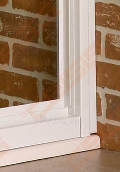 Slankiojančios dušo durys ROLTECHNIK CLASSIC LINE PD3N/100 montavimui į nišą su baltos spalvos profiliu ir matiniu stiklu Paveikslėlis 3 iš 4 270770000372