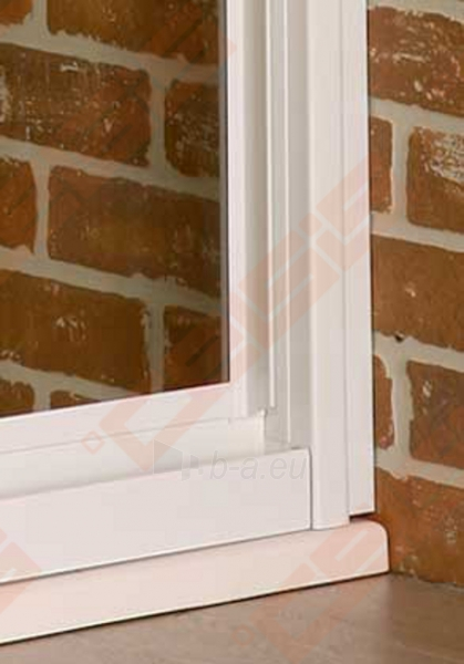 Slankiojančios dušo durys ROLTECHNIK CLASSIC LINE PD3N/900 montavimui į nišą su sidabro spalvos profiliu ir matiniu stiklu Paveikslėlis 3 iš 4 270770000375