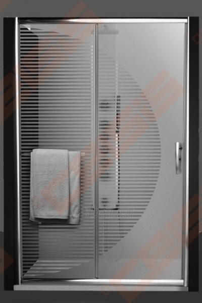 Slankiojančios dušo durys ROLTECHNIK PROXIMA LINE PXD2N/120, skirtos montuoti į nišą, su brillant spalvos profiliu ir skaidriu stiklu Paveikslėlis 4 iš 5 270770000377