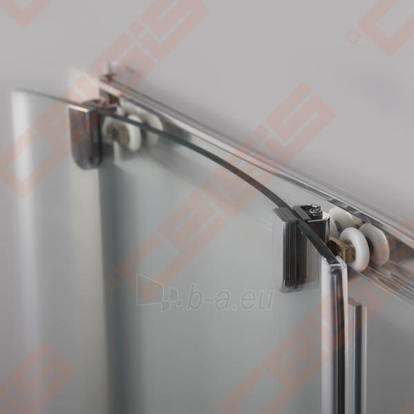 Slankiojančios dušo durys ROLTECHNIK PROXIMA LINE PXD2N/160, skirtos montuoti į nišą, su brillant spalvos profiliu ir skaidriu stiklu Paveikslėlis 3 iš 5 270770000382