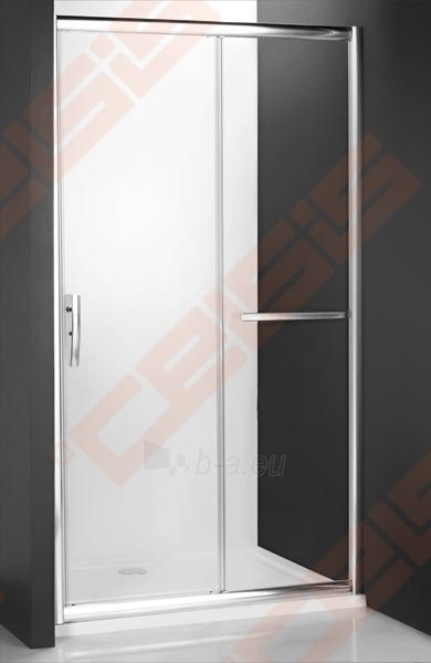 Slankiojančios dušo durys ROLTECHNIK PROXIMA LINE PXD2N140, skirtos montuoti į nišą, su brillant spalvos profiliu ir skaidriu stiklu Paveikslėlis 1 iš 5 270770000383