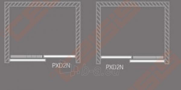 Slankiojančios dušo durys ROLTECHNIK PROXIMA LINE PXD2N140, skirtos montuoti į nišą, su brillant spalvos profiliu ir skaidriu stiklu Paveikslėlis 5 iš 5 270770000383