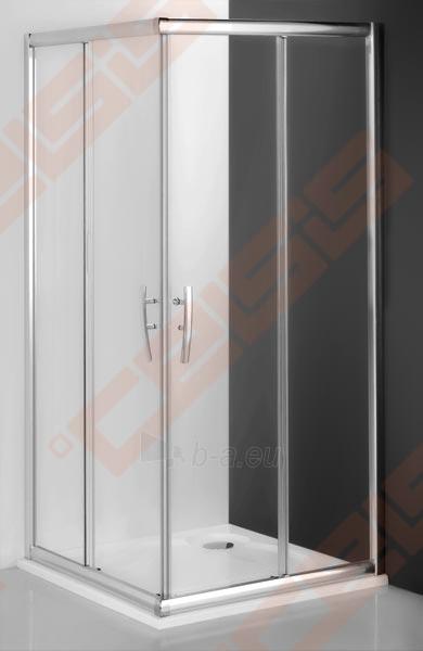 Slankiojančios dušo durys ROLTECHNIK PROXIMA LINE PXS2L/90 su brillant spalvos profiliu ir šerkšnu padengtu stiklu (kairė) Paveikslėlis 1 iš 5 270770000384