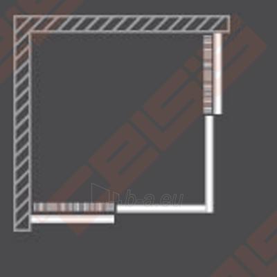 Slankiojančios dušo durys ROLTECHNIK PROXIMA LINE PXS2P/90 su brillant spalvos profiliu ir šerkšnu padengtu stiklu (dešinė) Paveikslėlis 5 iš 5 270770000385