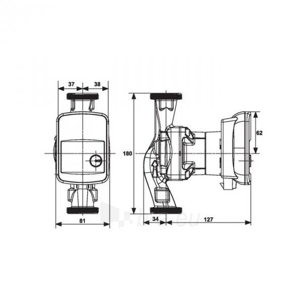 Šlapiojo rotoriaus siurblys Salmson Priux home 80-25/180mm Paveikslėlis 2 iš 2 310820254294