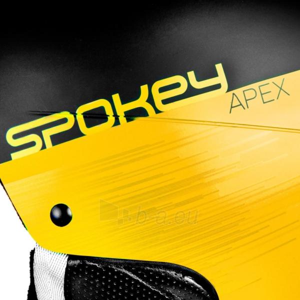 Slidinėjimo šalmas Spokey APEX, geltonas Paveikslėlis 7 iš 9 310820199954