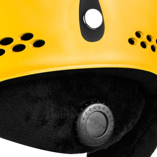 Slidinėjimo šalmas Spokey APEX, geltonas Paveikslėlis 8 iš 9 310820199954