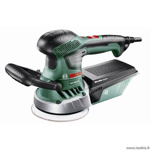 Šlifuoklis Bosch PEX 400 AE Compact Paveikslėlis 1 iš 2 310820049876