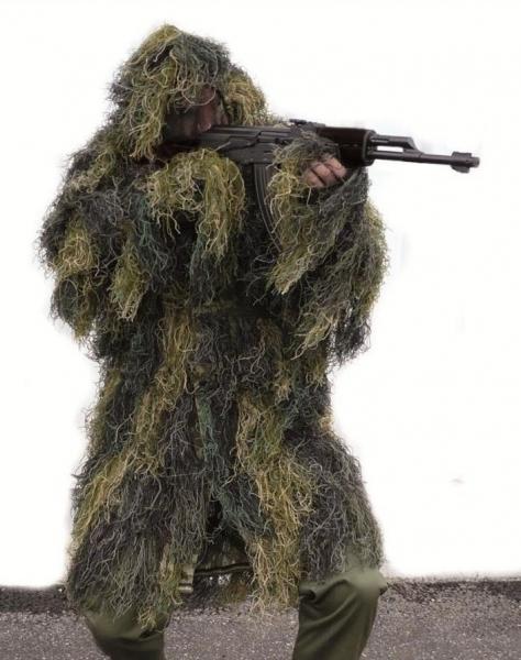 Snaiperio maskuotė Ghillie Suit Parka Woodland Paveikslėlis 1 iš 1 251510200015