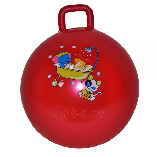 Šokinėjimo kamuolys su rankena 40 cm raudonas Paveikslėlis 1 iš 3 250620200112