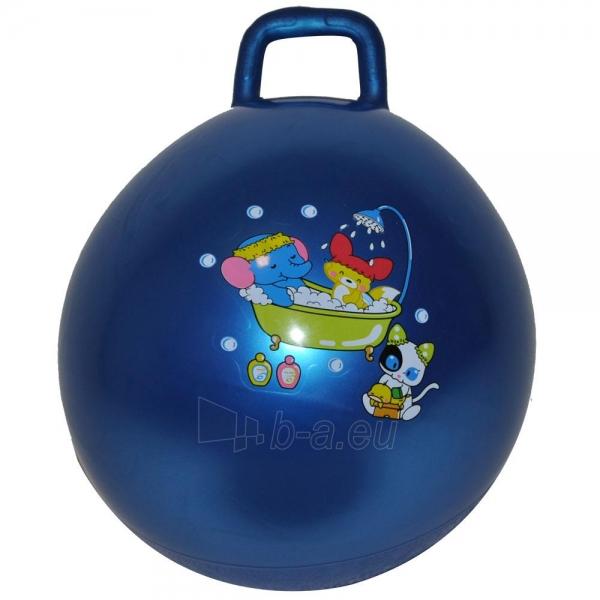 Šokinėjimo kamuolys su rankena 40 cm žydras Paveikslėlis 1 iš 1 250620200113