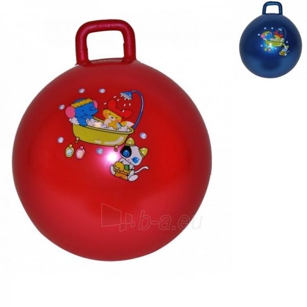 Šokinėjimo kamuolys su rankena inSPORTlinel 50 cm raudonas Paveikslėlis 1 iš 3 250620200114