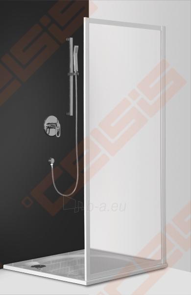 Šoninė dušo sienelė ROLTECHNIK CLASSIC LINE CDB/80 durims CDO1 ir CDO2 su baltos spalvos profiliu ir plastiko bark užpildu Paveikslėlis 1 iš 2 270770000386