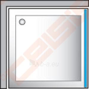 Šoninė dušo sienelė ROLTECHNIK CLASSIC LINE CDB/80 durims CDO1 ir CDO2 su baltos spalvos profiliu ir plastiko bark užpildu Paveikslėlis 2 iš 2 270770000386